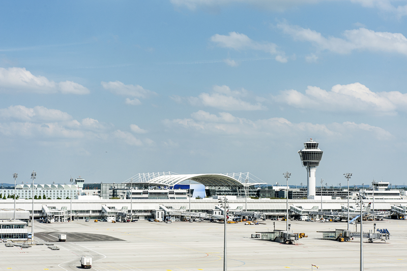 Munich Airport (MUC), also known as Flughagen Munchen is the main international airport in Bavaria region, Germany.